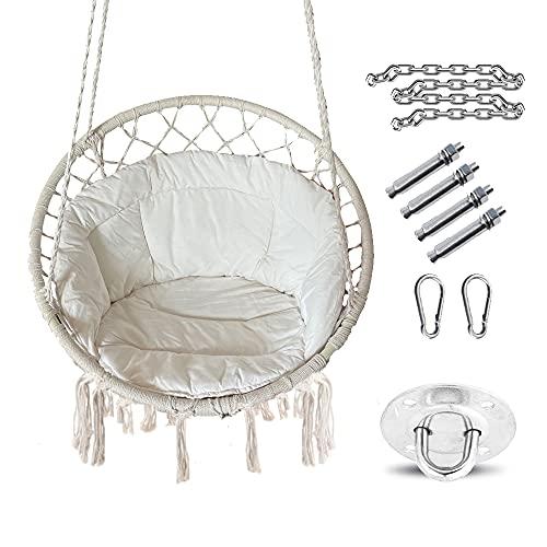 Hamaca colgante con cojín, sillón colgante para colgar, para adultos