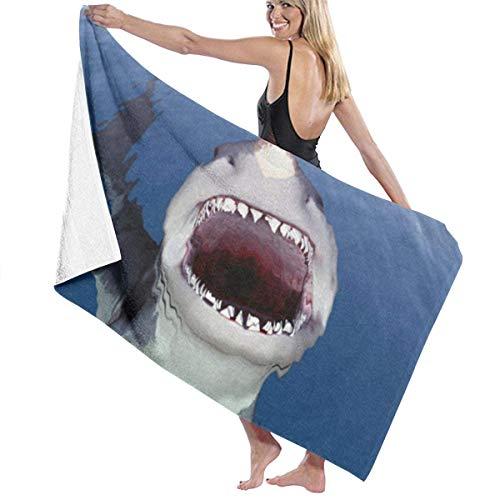 If Not Big Shark Mouth Blue Sea Printed Pool Manta de Toallas de Playa