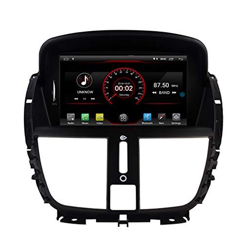 Autosion Android 10 lettore DVD GPS Stereo HeadUnit Navi Radio Multimedia Wifi per Peugeot 207 2007 2008 2009 2010 2011 2012 2013 2014 controllo volante nero