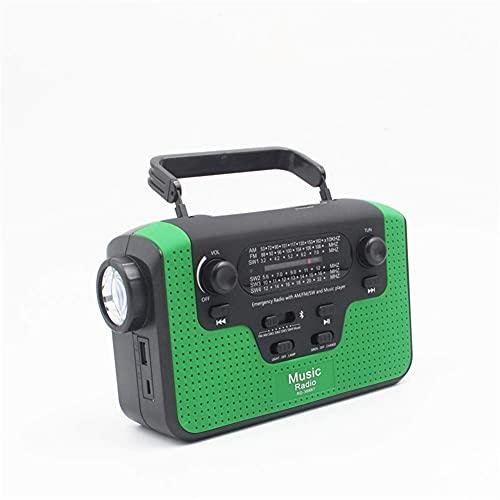 HYLX Altoparlante Bluetooth Radio a energia Solare, Caricatore per Telefono Cellulare Lettore MP3 AM/FM/SW1, SW2, SW3, SW4 Radio/Torcia LED Supporto avviso Scheda TF per situazioni di Emergenza a