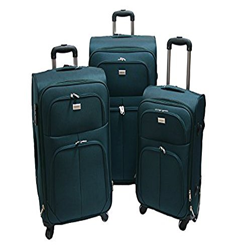 Trolley valigia set valigie semirigide set bagagli in tessuto super leggeri 4 ruote piroettanti trolley piccolo adatto per cabina con compagnie lowcost art so1 / verde petrolio
