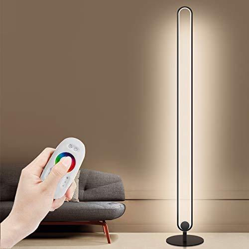 Ydshyth lámpara de pie Regulable con Cambio de Color RGB para Sala de Estar con Control Remoto, lámpara de pie Moderna para Sala de Juegos, Sala de Estar, Dormitorio de 20W