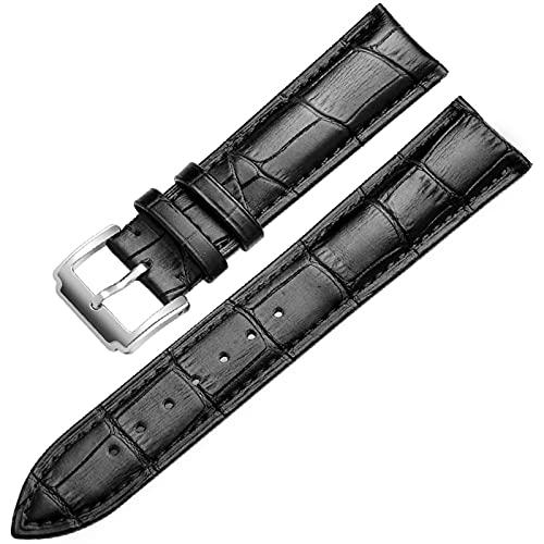 PAZHOU Correa de Reloj de Cuero Genuino de la Banda Suave de la Correa de Reloj de Cuero 18 mm 20 mm 22 mm de 24 mm de Reloj de Reloj para Tissot Seiko Accesories Pulsera