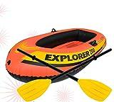 DSHUJC Piscina, Bote Inflable para 2 Personas para Enviar paletas de Aluminio y Bomba de Aire Manual de Alto Rendimiento 211 * 117 * 41 cm Kayak de Deriva Inflable