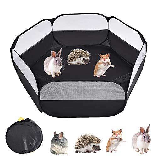 LKR Hamster Laufstall, Tragbarer Laufstall für Kleintiere, Wasserdichtes, Atmungsaktives Pop up Käfigzelt für Kleintiere im Innen und Außenbereich für Kaninchen, Eichhörnchen, Kätzchen, Chinchilla
