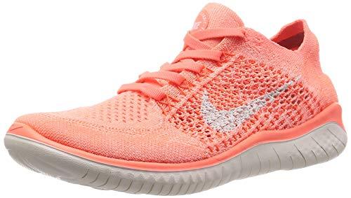 Nike Women's Free Rn Flyknit 2018 Crimson Pulse/Sail Ankle-High Running Shoe - 8M