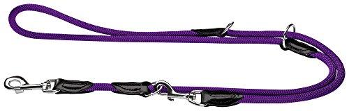 HUNTER Freestyle Verstellbare Führleine für Hunde, robust, wetterfest, 1,0/200 cm, violett