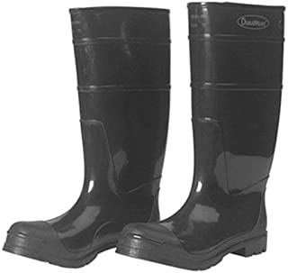 """Liberty DuraWear PVC Protective Boot with Steel Safety Toe, 16"""" Height, Size 08, Black"""