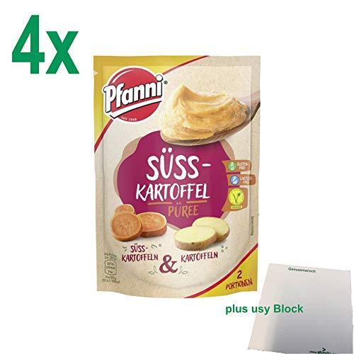 Pfanni Süßkartoffelpüree Süsskartoffeln & Kartoffeln vegetarisch Officepack (4x60g, 8 Portionen) + usy Block