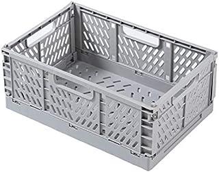 LCM Boîte de Rangement en Plastique Pliable Pliante Panier Panier empilable Maison paniers de Rangement (Color : Gray, Tai...