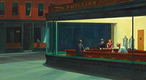 Edward Hopper ジクレープリント キャンバス 印刷 複製画 絵画 ポスター (夜の鷹)