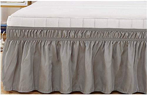 LANG ZI 150/135 cm Volantes elástica Falda de Cama 38cm Bedding Ruffled Bedskirt Medidas canapé Cubre unda de Somier Faldón de Volantes con (Color : C, Size : 180 * 200cm)