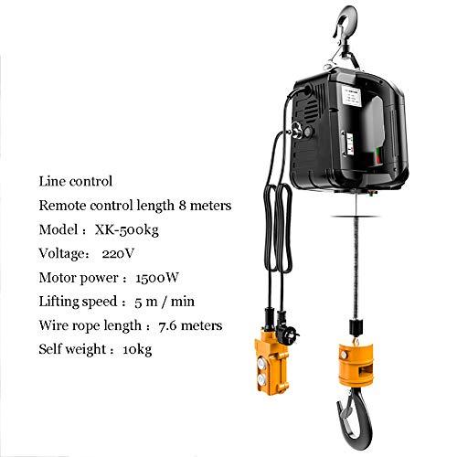 Xingxings kabellier elektrisch draagvermogen van 100 kg tot 500 kg 220 V 1500 W met kabel-afstandsbediening, voor laad- of autogarage