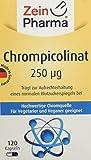ZeinPharma Chrompicolinat 250 Microgram 120 Kapseln für einen normalen Blutzuckerspiegel