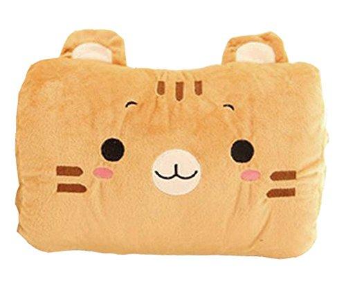 Süße Katze Handwärmer Kissen kurze Plüsch Handwärmer Wederverwendbar,11.8x9\'\'