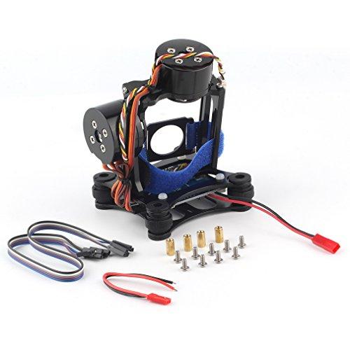 cjc 2-Axis DJI Phantom Gopro 3 3+ 4 CNC Brushless Motor Camera Gimbal with BGC Controller RTF for DJI Phantom 1 2 3 GoPro Hero3+ Hero3 FPV - Black