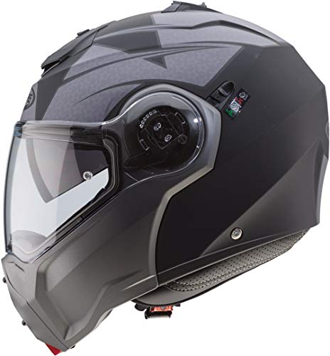 Caberg C0HC00G9M Droid Helm, mattschwarz/anthrazit, Größe M