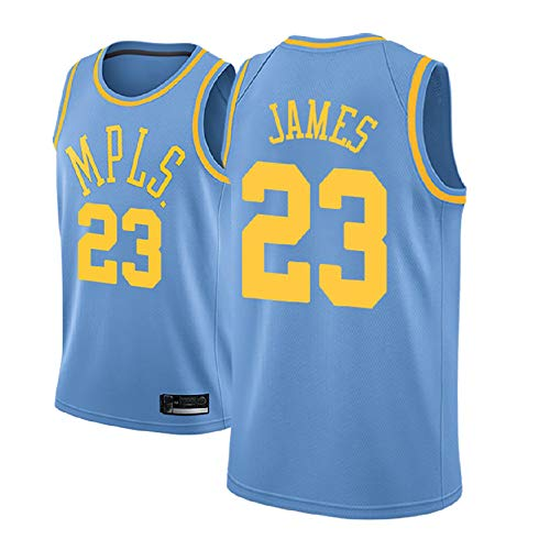 MRYUK Camiseta de Chaleco de Baloncesto para Adultos, 23# Los Angeles Lakers Lebron James Basketball Swingman sin Mangas, Secado rápido y Transpirable Style 4-S