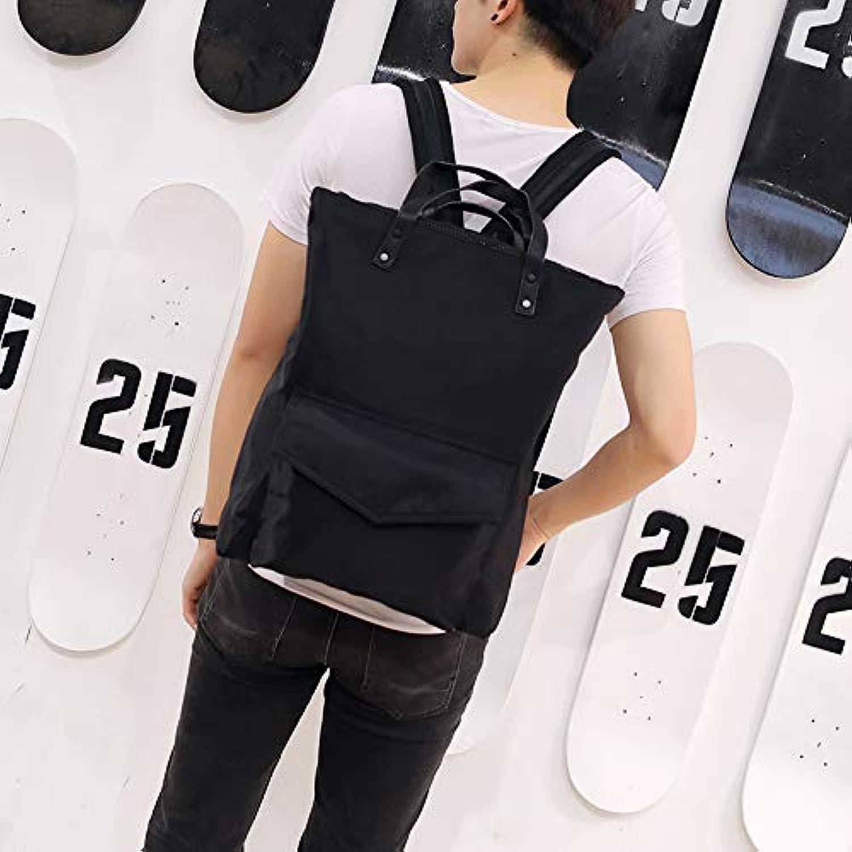 YZBB Japan und Korea original extrem Einfache Schwarze Hand-Umhngetasche Wasserdichte Nylon Student Tasche Modische Computer-Tasche Reiserucksack