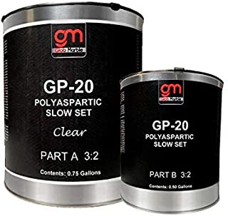 1.50 Gal. Polyaspartic Sealer GP-20 Floor Top Coat. High-Gloss, Protective, Polyaspartic Concrete Coating