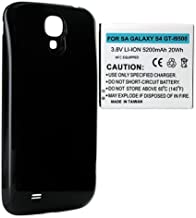 Samsung SCH-I545 Cell Phone Battery Ultra High Capacity Extended Battery (5200 mAh) Equipped With NFC - Replacement For Samsung Galaxy S4 Cellphone Battery - Includes A Black Cover