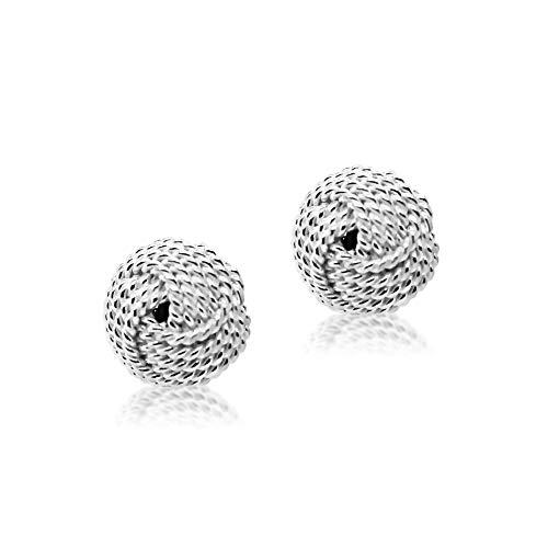 Silver Mine Sterling Silver Jewellery Design Knot Stud Earrings for Women