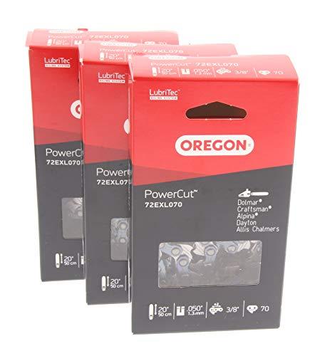 3-Pack Oregon 20 Loop Pro Chisel Chain 72LGX (70 Drive Links) Fits Echo CS-590 Timberwolf, CS-600