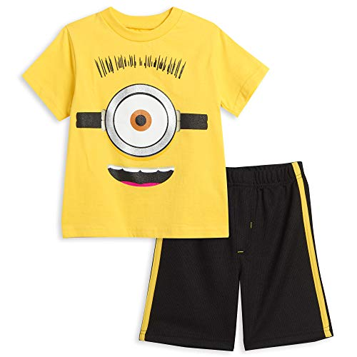 Despicable Me Minions Toddler Boys Graphic T-Shirt & Shorts Set Yellow-Black 3T
