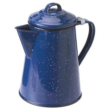 Blue Enamel 6 cup Coffee Pot