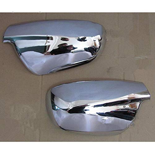 Caja del Espejo Retrovisor Espejo De Cara Cubierta del Cromo En Forma Fit For El Peugeot 307 CC 407 SW 2004-2012 Accesorios 2pcs Parrilla para Parachoques