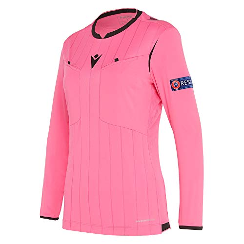 Macron Fußball 1/1-Shirt UEFA Referee 19 Schiedsrichter Trikot Damen neonpink Gr L