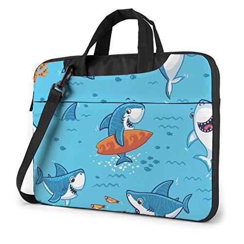 Laptop Case, Undersea Whale Print Laptop Shoulder Bags Multi-Functional Notebook Sleeve,13-14-15.6 Inch