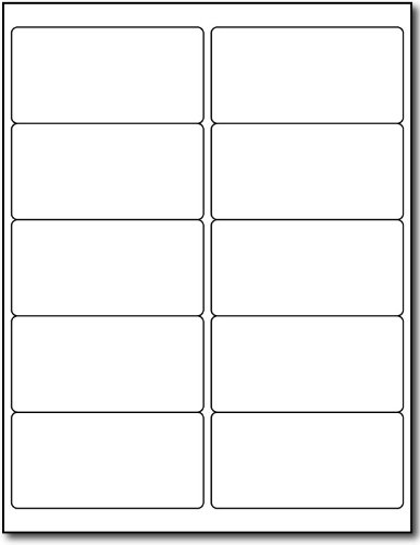 White Removable Labels - Mailing Size 2