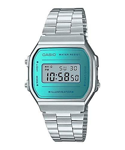 [カシオ] CASIO デジタル 腕時計 スタンダード A168WEM-2 メンズ レディース キッズ シルバー×ブルー 海外モデル [並行輸入品]