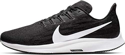 Nike Men's Air Zoom Pegasus 36 Running Shoe X Wide Black/White/Thunder Grey Size 8 X-Wide US
