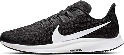 Nike Men's Air Zoom Pegasus 36 Running Shoe X Wide Black/White/Thunder Grey Size 10 X-Wide US