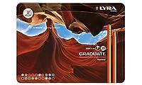 Lyra グラデュート ファインライナー マーカー 詰め合わせ メタルボックス 20本入り マルチカラー 9.84×0.69×7.3インチ 6771200