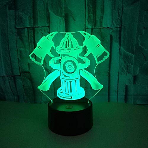 3D-ledverlichting, brandblussers, 3D-illusielampenbaby slaapkamer decoratie kindergeschenk illusie lamp tafellamp slaapverlichting optisch nachtlampje kinderlampje.