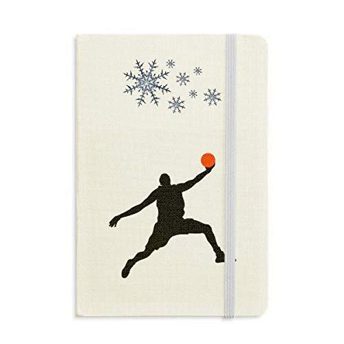 Slam Dunk Sports - Cuaderno de salto de baloncesto grueso con copos de nieve