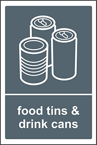 Poubelle recyclage sticker alimentaire Boîtes et cannettes – Étiquette autocollante