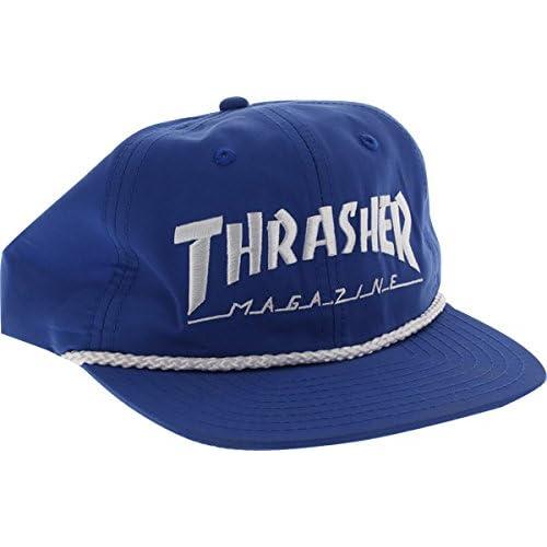 66fa549ca65 Amazon.com  Thrasher Magazine Rope Blue   White Snapback Hat - Adjustable   Sports   Outdoors