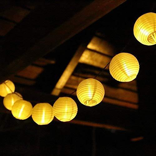 SALCAR 10m Solar LED Lampion Lichterkette Außen, 40er LED Lichterketten Garten Laterne Deko Lichterkette, Wasserdicht Solar Beleuchtung Aussen...