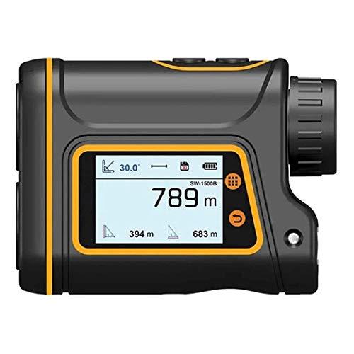 ZBQLKM Finder con Pendiente, buscador de Rango de Distancia de Golf, medición rápida, Clara y precisa, múltiples Modos de medición, Aumento de 6X, Pantalla LCD Ancha, para construcción al Aire Libre,