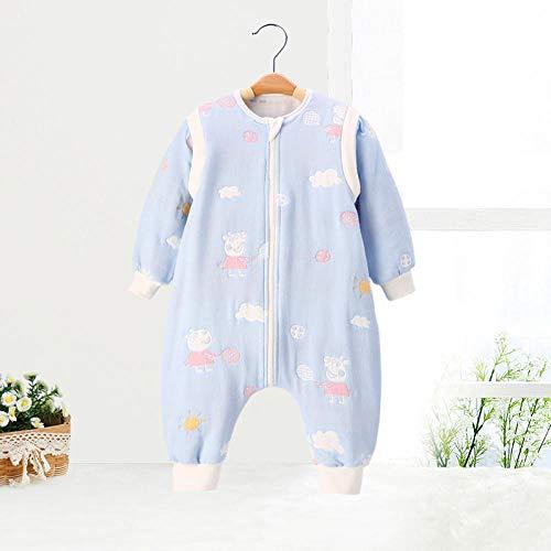 Baby Kid peuter fleece slaapzak, babyslaapzak-blauwe pagina 6_90 yards 1-2 jaar, baby inbakeren deken wandelwagen wrap