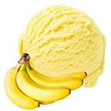 1 Kg Banane Geschmack Eispulver VEGAN - OHNE ZUCKER - LAKTOSEFREI - GLUTENFREI - FETTARM, auch für Diabetiker Milcheis Softeispulver Speiseeispulver Gino Gelati