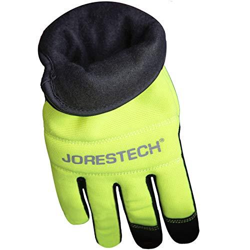 JORESTECH Fleece Lined Winter Work Gloves High Visibility Safety Touch Screen Technology Multipurpose (Large)