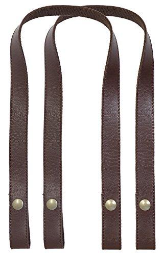 イナズマ INAZUMA バッグ用 ホック式テープ持ち手 手さげショルダータイプ 全長約60cm #870 焦茶 YAT-6020A