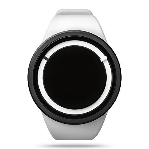 zhuolei ZIIIRO Eclipse Dream Concept Modische quaetz Bewegung Armbanduhr für Damen und Herren Offizielles Berechtigung, Sillicon-White
