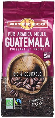 Alter Eco Café Moulu Pur Arabica Bio et Équitable - Intensité 5 - Origine Guatemala – 260 g