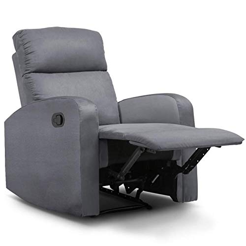 IDMarket - Fauteuil Relaxation inclinable Gris Anthracite